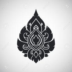 Illustration of Thai arts angel, vector pattern vector art, clipart and stock vectors. Stencil Designs, Wall Art Designs, Angel Vector, Thai Pattern, Thailand Art, Monster Tattoo, Thai Tattoo, Thai Art, Mandala Art