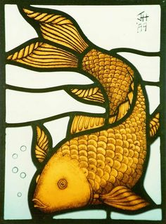 Stained glass panel by Janet Hardy, Llandeilo, Wales, UK