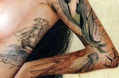 Amazing Nautical-Themed tattoos