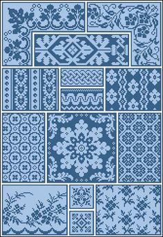 For sale is Antique Sampler 1 with Repeating Borders and Floral Textile Adaptation Counted Cross Stitch Pattern in PDF format. This design is