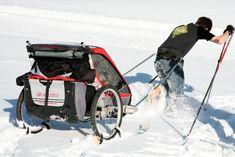 OutsideMom.com | DIY: Convert your bike trailer into a ski trailer