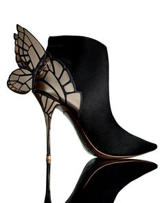 Sophia Webster Chiara 3D Butterfly Wing Boot, Black USD 850.00