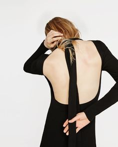 Image 3 of DRESS WITH LOW-CUT BACK from Zara
