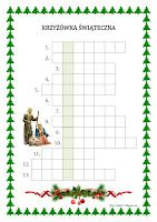 BLOG EDUKACYJNY DLA DZIECI: Krzyżówka świąteczna