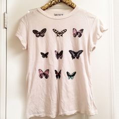 •WILDFOX• Warhol Butterfly Tee Excellent pre owned condition, has intentional distressing/little holes near collar Wildfox Tops Tees - Short Sleeve