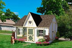 Victorian Style Luxury Dog Houses  The house designed with a gingerbread trim and gable has a spacious 6 x 8-foot open area that makes the canine member of your family feel like he is part of the outdoors, while the roof keeps him protected from the weather. - See more at: http://www.large-dog-houses.com/blog/lang/us/the-prettiest-luxury-dog-houses/#sthash.AOgGJonG.dpuf