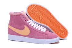 Nike Blazer Mid Wool Women's Shoes Pink,Quality Sneakers are worthy for you own it .Dont miss it .