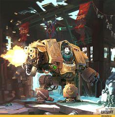 Warhammer 40000,warhammer40000, warhammer40k, warhammer 40k, ваха, сорокотысячник,фэндомы,Dreadnought,Imperium,Империум,Space Marine,Adeptus Astartes Warhammer 40k Art, Warhammer Models, Space Marine Dreadnought, Futuristic Robot, Knight Art, Space Wolves, Game Workshop, Game Art, Fantasy Art