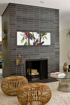 Terrific Snap Shots Fireplace Tile grey Ideas It is actually winter. While the c…, – farmhouse fireplace tile Country Fireplace, Simple Fireplace, Double Sided Fireplace, Shiplap Fireplace, Black Fireplace, Concrete Fireplace, Rustic Fireplaces, Farmhouse Fireplace, Fireplace Hearth