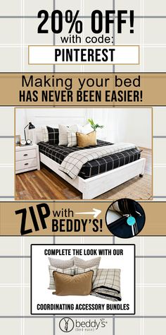 "Start your morning off right! With Beddy's we make it easy! All you do is zip! Use code ""PINTEREST"" for 20% off! #beddys #beddysbeds #zipperbedding #zipyourbed #bunkbeds Shabby Chic Interiors, Shabby Chic Decor, Boho Decor, Vintage Decor, Colorful Interiors, Interior Color Schemes, Interior House Colors, Interior Design, Master Bedroom"