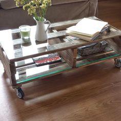 Ideas de mesas hechas con palets