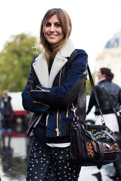 Absolutely love this outfit, especially the Marant jeans and that leather jacket. oh and the PS1 bag too.  via the sartorialist