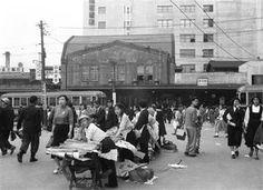 昭和30年(1955)渋谷駅。