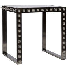 7529c18d6591 Emporium Home Quartz Stud Black Nickel End Table Black Accent Table