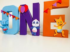Word Party First Birthday Decorations Colorful Freestanding image 0 Minnie Mouse Party Decorations, First Birthday Decorations, 1st Birthday Girls, Boy Birthday Parties, Birthday Ideas, Bridesmaid Gift Bags, Free Standing Letters, Birthday Supplies, First Birthdays