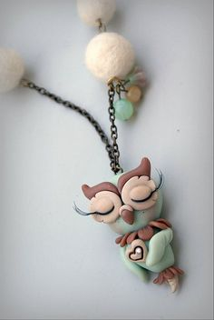 polymer clay... i could make something like this