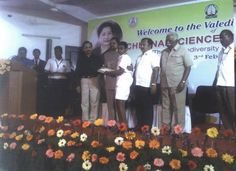 S.S. Netaji collecting the certificates for participation in the competition for Science Based models on the behalf of his team which comprised K. Anitha, M. Akilasri, A. Aokyaamudhan, A.Clinton, T.S. Balaji, M. Shazia Fathima and G. Arihant