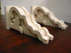 Decorative Wood Brackets / Wood Corbels / by HarvestTreasuresInc $146