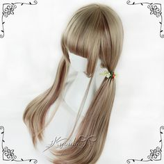 kyouko假發|獨家 日常/cos/原宿/lolita夢青亞麻混色挑染70cm直發-淘寶網