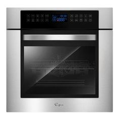 Order 24 in. Electric Single Wall Oven - EMPV-24WOC02 Gas Wall Oven, Electric Wall Oven, Wall Ovens, Single Wall Oven, Convection Cooking, Stainless Steel Oven, Large Oven, Grill Grates, Heating Element