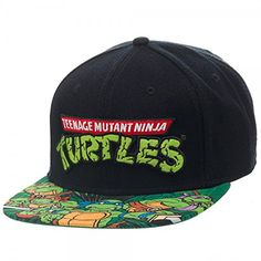 7b7e55675b187 Amazon.com  BIOWORLD Teenage Mutant Ninja Turtles TMNT Sublimated Bill  Snapback Hat  Toys   Games