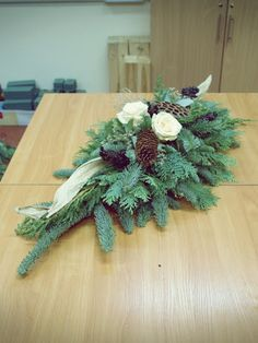 Floralne Przeobrażenia Funeral Arrangements, Christmas Arrangements, Flower Arrangements, Christmas Flowers, Christmas Wreaths, Christmas Decorations, Holiday Decor, Grave Decorations, Flower Decorations
