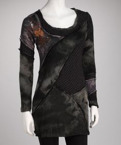 Take a look at this Jack & Ginger Black & Charcoal Tunic by Jack & Ginger and Fornia on @zulily today!