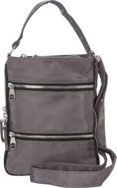 494f2a302fb786 Sacs Collection by Annette Ferber Mini Zip Up Expandable Cross body  Charcoal - via eBags.com!