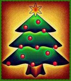 Christmas Photograph Card Christmas Tree with Star by MYSAVIOR, $2.00