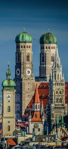 Beautiful architecture in Munich, Germany. vivacious living world Munich Germany, Bavaria Germany, Places To Travel, Places To Visit, Central Europe, Parcs, Beautiful Architecture, Kirchen, Day Tours