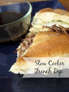 Slow Cooker French Dip - this flavorful and easy recipe is my favorite French Dip ever! Super yummy!