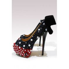 L J Couture Minnie Mouse Inspired High Heeled Shoes