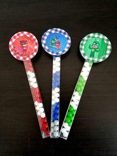 Pj masks candy wands Pj masks birthday Pj masks Goody Bags