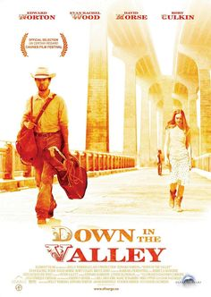 Down in the Valley , starring Edward Norton, Evan Rachel Wood, David Morse, Rory Culkin. Set in the present-day San Fernando Valley, the project revolves around a delusional man who believes he's a cowboy and the relationship that he starts with a rebellious young woman. #Drama #Romance #Thriller