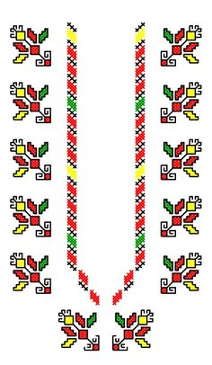 BIG014 Hand Embroidery Flowers, Folk Embroidery, Embroidery Patterns, Cross Stitch Patterns, Cloth Flowers, Bulgaria, Beading Patterns, Crochet Stitches, Wedding Decorations
