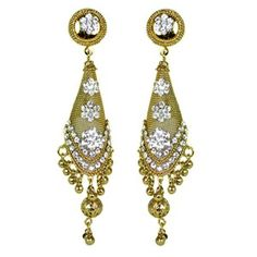 Shafana Conical Mesh Traditional Earrings || Available on ► www.vmfashion.com