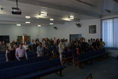 Culto divino com participação do Quarteto Proclaim. Quem pôde estar presente, sentiu as bençãos derramadas pelo Senhor através de clássicos da Voz da Profecia, e da palavra ministrada por um dos integrantes desse fantástico grupo. Com certeza, foi um momento de grande alegria para todos nós da Igreja Adventista do Sétimo Dia! Fotos tiradas na manhã de sábado, dia 02/05/2015.