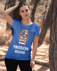 American Bulldog Dog Dog Lover Gift Bull T-Shirt - Royal Blue bulldog care, bulldogs and babies, bulldogs english puppy #bulldogart #bulldogsfelices #bulldogsofaz, back to school, aesthetic wallpaper, y2k fashion Camping Gifts, Diy Camping, Camping With Kids, Camping Ideas, Blue Bulldog, Funny Bulldog, Dog Lover Gifts, Dog Lovers, English Bulldog Puppies