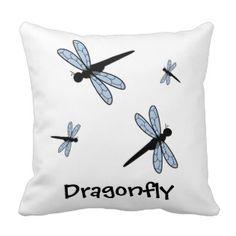 Cute Vector Dragonfly Pillows