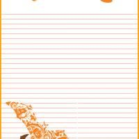 How cool is this free printable #Halloween #Stationary? Give a like!
