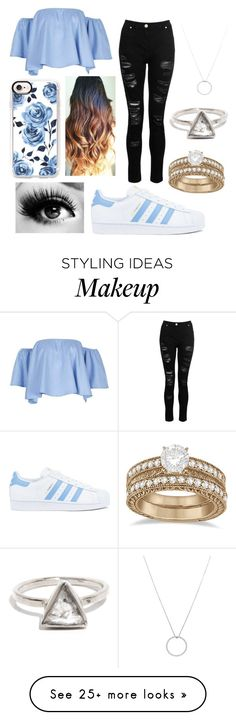 """"" by xxxmarixxx on Polyvore featuring Dorothy Perkins, adidas, Roberto Coin, Casetify and Allurez"