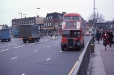 Lewisham South East London England on 8 March 1978 Vintage London, Old London, East London, London Bus, London City, Rt Bus, My Route, Double Decker Bus, Bus Coach