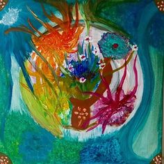 Free with the Serie ☀️🍀 🍀☀️🌸💃🏻 Buddhism, Painting Art, Modern Art, Abstract Art, Fantasy, Artist, Instagram Posts, Artwork, Flowers