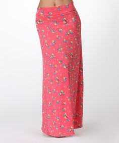 Another great find on #zulily! Pink Floral Maxi Skirt - Women by BOLD & BEAUTIFUL #zulilyfinds
