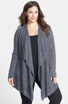 Barefoot Dreams® 'Bamboo Chic' Drape Front Cardigan (Plus Size) (Nordstrom Exclusive) | Nordstrom