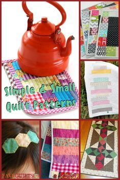 These small quilt projects are fast, easy, and fun! #quilting