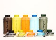 Collapsible water bottle for camping, travel, and everyday hydration.