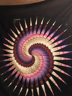 "Gordon Kreps ""I am new to quilting. This was the third quilt I made. Disappearing spiral Only been quilting for six months"""