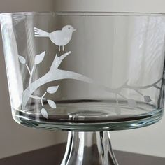 DIY Glass Etching.  I would like to do a pretty bird design like this on a simple mirror for a nice wall decoration!