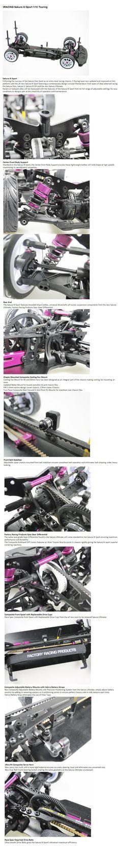 3Racing Sakura XI Sport 1/10 RC Touring Car for R/C or RC - Team Integy